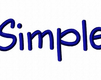 Simple Machine Embroidery Fonts 1188