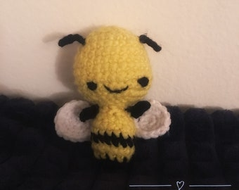 Amigurumi Bee - Charlie,  stuffed animal bee toy honeybee plush animal
