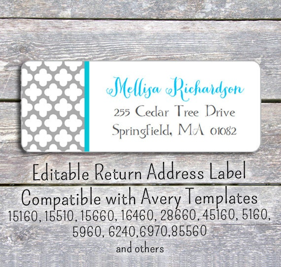 Divine image with printable return address labels
