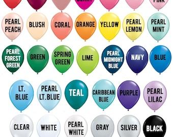 "5"" Mini Balloons - Small Latex Balloons - CHOOSE YOUR COLORS - Custom Color Balloons - Balloon Garland Balloons - Birthday Balloons"
