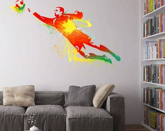 Soccer Player Wall Decals Football Player Wall Decals Soccer Wall Decals European football Wall Decals kcik110