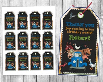 Little Blue Truck Thank You Tags, Little Blue Truck Favor Tags, Little Blue Truck Gift Tags, Little Blue Truck Tag Printables