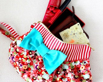 PDF handbag sewing pattern | zip pouch pattern | zip bag sewing pattern | pouch sewing pattern | zipper bag pattern | bag sewing pattern