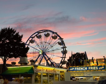 State Fair at Sunset