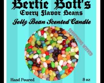 Harry Potter | Bertie Bott's Every Flavor Beans | Jelly Bean Scented | Inspired Candle