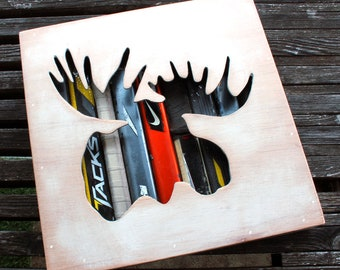 Moosehead Reclaimed Hockey Stick Shadow Box