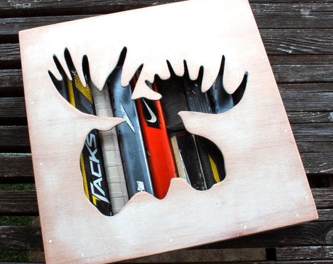 Featured listing image: Moosehead Reclaimed Hockey Stick Shadow Box