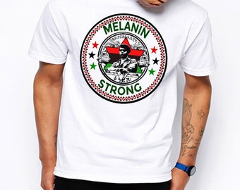 Black History Month T-Shirt African Map Kemetic Malcolm X Black Panther Flag Africa Hieroglyphics Melanin Kemet Cotton Tee