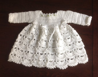 Baby Dress Winter PATTERN 12 mths Janice
