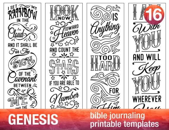 GENESIS 4 Bible journaling printable templates illustrated