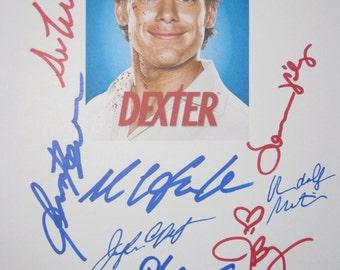 Dexter Signed TV Script Screenplay X10 Autographs Michael C. Hall Julie Benz Jennifer Carpenter Lauren Velez David Zayas James Remar Martin
