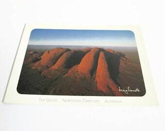Vintage Postcard, The Olgas Rock Northern Territory Australia PC, Kata Tjuta, Post Card, Craig Lamotte Photo, Central Australia Collection