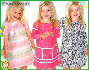 Juliet Peasant Sewing Pattern for Girls + Free Mother-Daughter Apron Pattern, Dress Pattern, Toddler, Supplies, handmade, peasant patterns