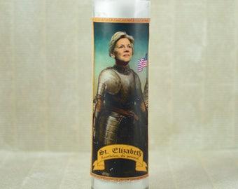 Elizabeth Warren Prayer Candle - Saint Elizabeth Warren - Nevertheless She Persisted - Warren in 2020 - Senator Warren - Political Gift