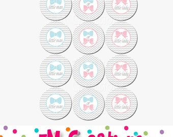 Gender Reveal Party Cupcake Toppers - Boy or Girl Party - Gender Reveal Party Decorations - Baby Shower Cupcake Toppers - Instant Download