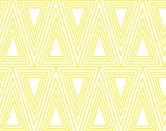 Removable Wallpaper, Peel and stick wallpaper, wallpaper, Triangle wallpaper, Geometric wallpaper,  Self adhesive wallpaper, yellow