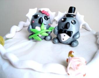 Koala Wedding Cake Topper Bride and Groom Koala Bear Cake Toppers