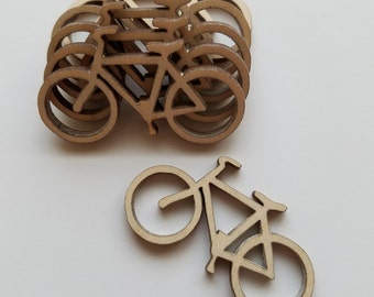 Wooden Bicycle Cut Outs ( Scrap Booking, Embellishments, DIY Crafts )