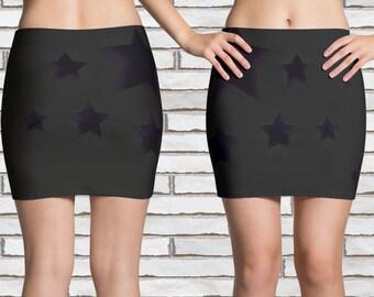 Star Pattern #2  Mini Skirt