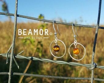 Gemstone Single Loop 6mm Earrings