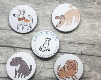 Charity Last Hope Animal Rescue Badges