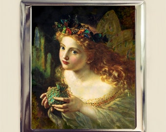 Victorian Fairy Cigarette Case Business Card ID Holder Wallet Sophie Anderson Fairytale Fairy Tale