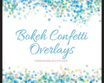 Bokeh Overlays, Digital Confetti, Bokeh Background, Photoshop Overlay, Scrapbook Background Commercial Use