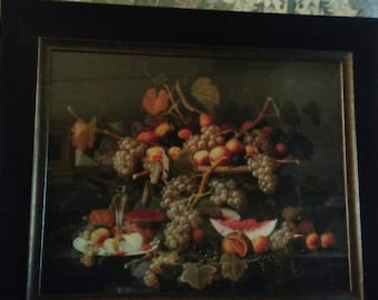 Large fruit print still life