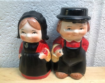 Salt and Pepper Shakers boy and girl