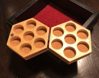 Poplar Hexagon Dice Box
