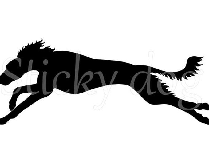 Saluki running silhouette sticker