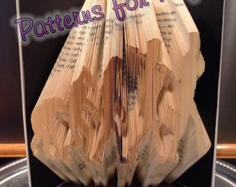 Book folding pattern for a EVOLUTION OF MAN