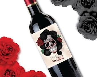 Halloween wine label / wine label / halloween / wine/ labels / halloween gifts