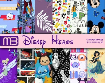 Disney digital paper pack - printable papers - Instant download .We have a lot of Disney,s digital papers.Please look them.