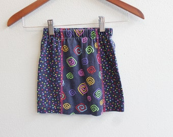 Vintage Polka dot and Swrill Funky Girl Skirt by Jump