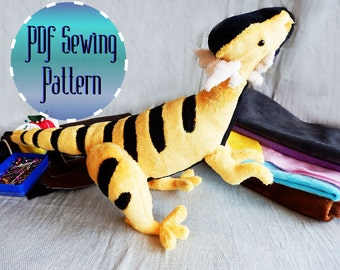 Dinosaur Dracorex Hogwartsia plush pattern stuffed animal sewing PDF