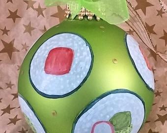 Sushi Roll Ornament, Sushi Lover Gift, California Roll, Tekka Maki, Kappa Maki, Geek Christmas Ornament, Sushi Ornament, Sushi Christmas