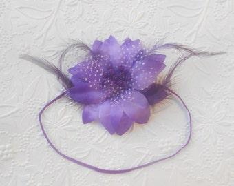 Purple Flower  Baby Headband, Newborn Headband,  Infant Headband,Baby Headband, Headband Baby, Baby Headband