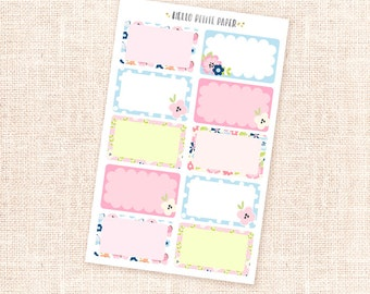 Half box stickers - Daydream Collection / 10 functional planner stickers