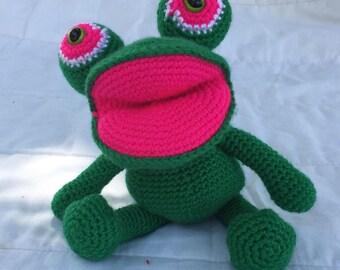 Amigurumi Frog, Crochet Toy Frog, Plush Frog, Crochet Animal