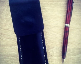 Pencil case made of hard leather