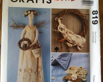 McCall's Crafts Pattern #819 Gardening Angel Doll Package