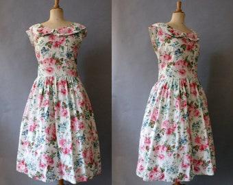 1960s Floral Summer Dress
