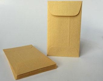 100 Metallic Gold Envelopes, Mini Gold Coin Envelope, Business Card Holder, Gift Certificate Envelopes, Bulk envelopes