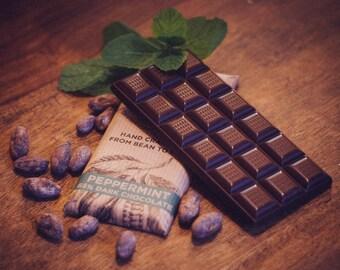 Dairy Free Vegan Peppermint Dark Chocolate