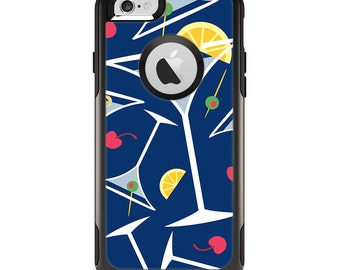 The Blue Martini Drinks With Lemons Apple iPhone OtterBox Case Skin-Kit