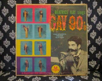 Beatrice Kay sings Gay 90's Record LP Album