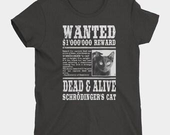 Schrödinger's Cat Wanted T-Shirt Ladies