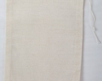 100 4x6 Cotton Muslin Drawstring Bags Bath Soap Herbs