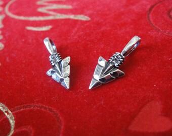 925 sterling silver oxidized Arrow charm, pendant 1 pc., silver arrow, arrow, arrowhead, arrow charm